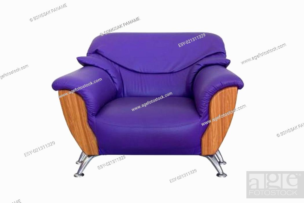Stock Photo: Modern violet sofa.