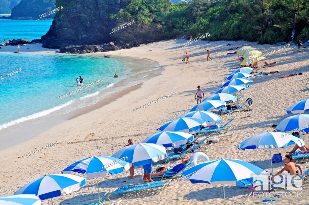 Stock Photo: Zamami, Okinawa, Japan: Furuzamami Beach.