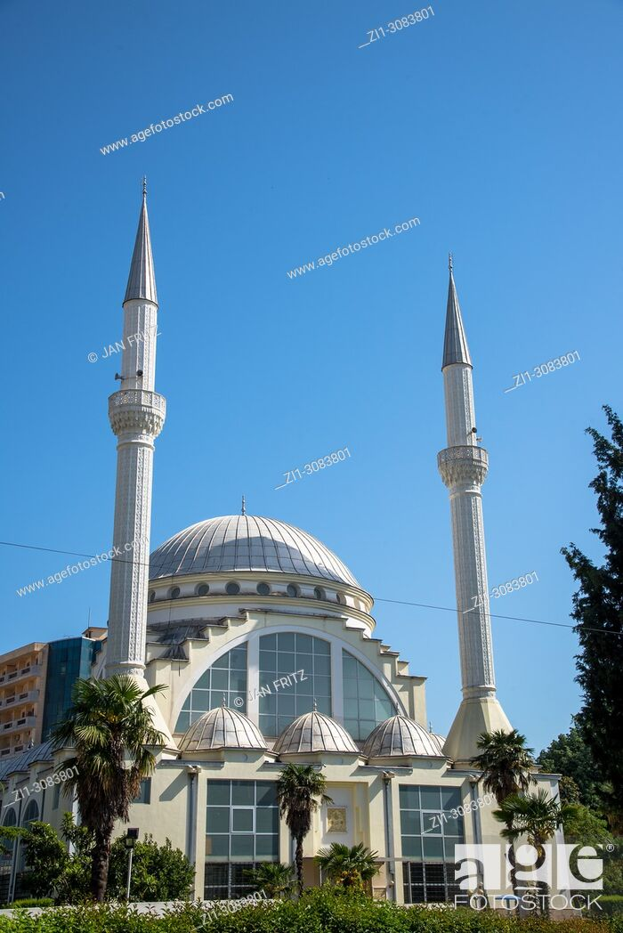 Stock Photo: famous Xhamia e Madhe mosque in Skhodra, Albania.