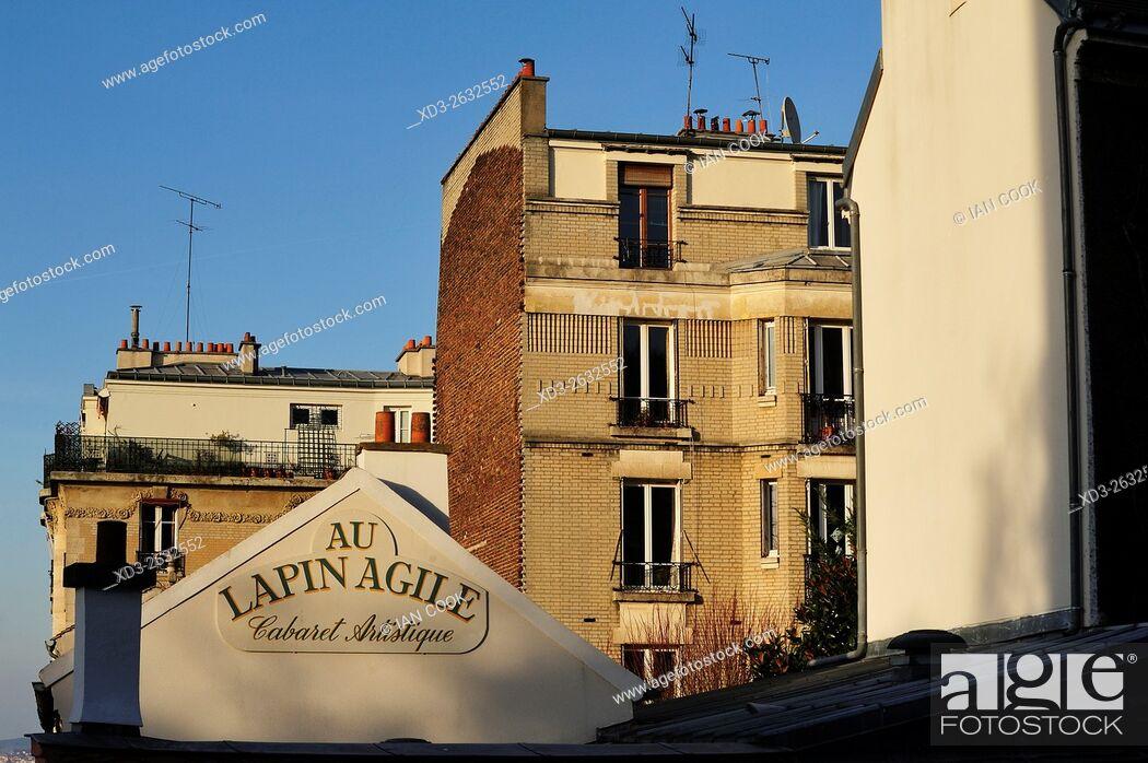 Stock Photo: Au Lapin Agile Cabaret, Montmartre Neighbourhood, Paris, France.