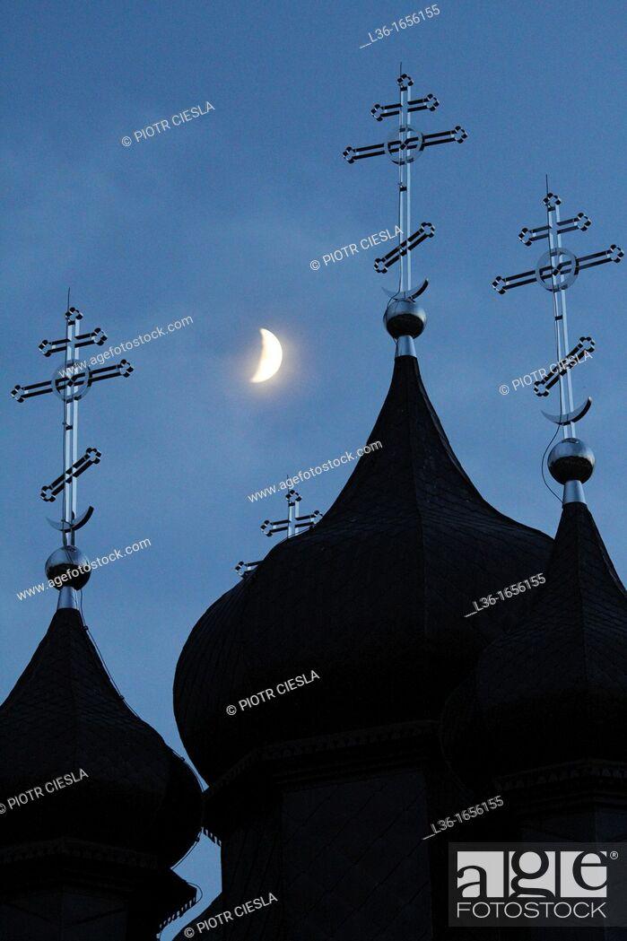 Stock Photo: Orthodox church  Mielnik  Podlasie region  Eastern Poland.