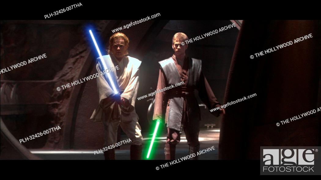 Stock Photo: Hayden Christensen, Ewan McGregor, 'Star Wars Episode II: Attack of the Clones' (2002).
