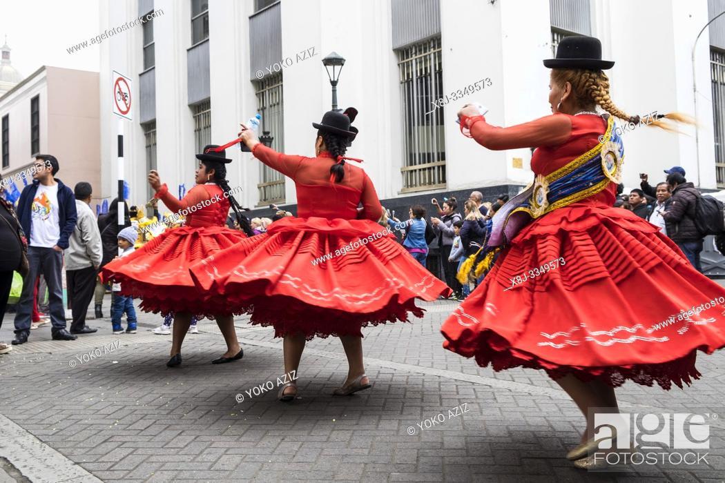 Stock Photo: Peru, Lima, loca festival.