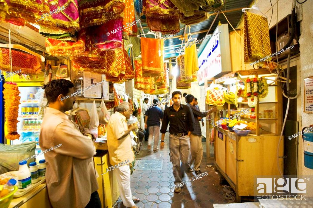 Indian Souk, Deira, Dubai, United Arab Emirates, Stock Photo