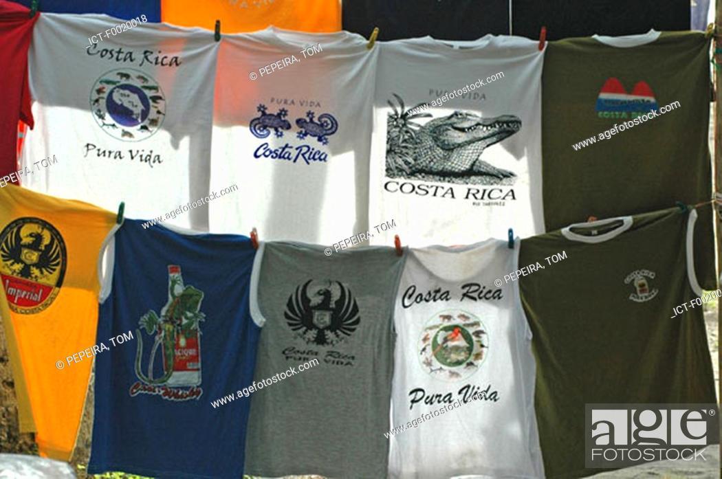 Stock Photo: Costa Rica, Manuel Antonio National Park, souvenir shop.