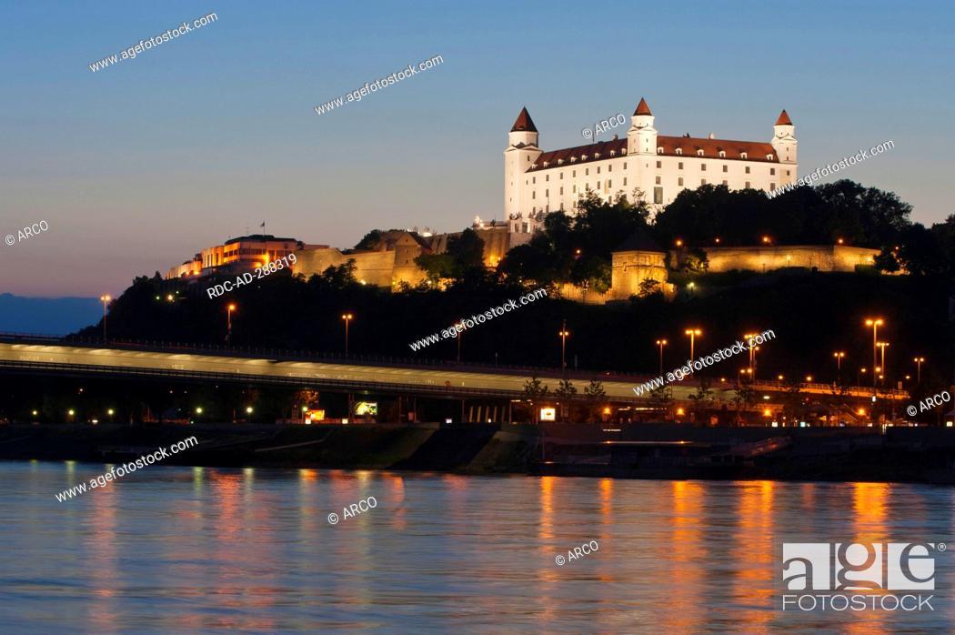 Stock Photo: Castle Bratislava, Bratislava, Slovakia / Danube river.