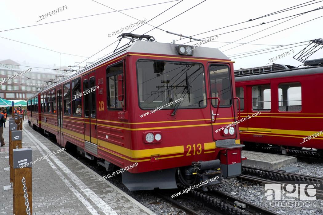 8 In Gauge Rack Railway Which Runs 9 Kilometres From Kleine Scheidegg To The Highest Station Europe At