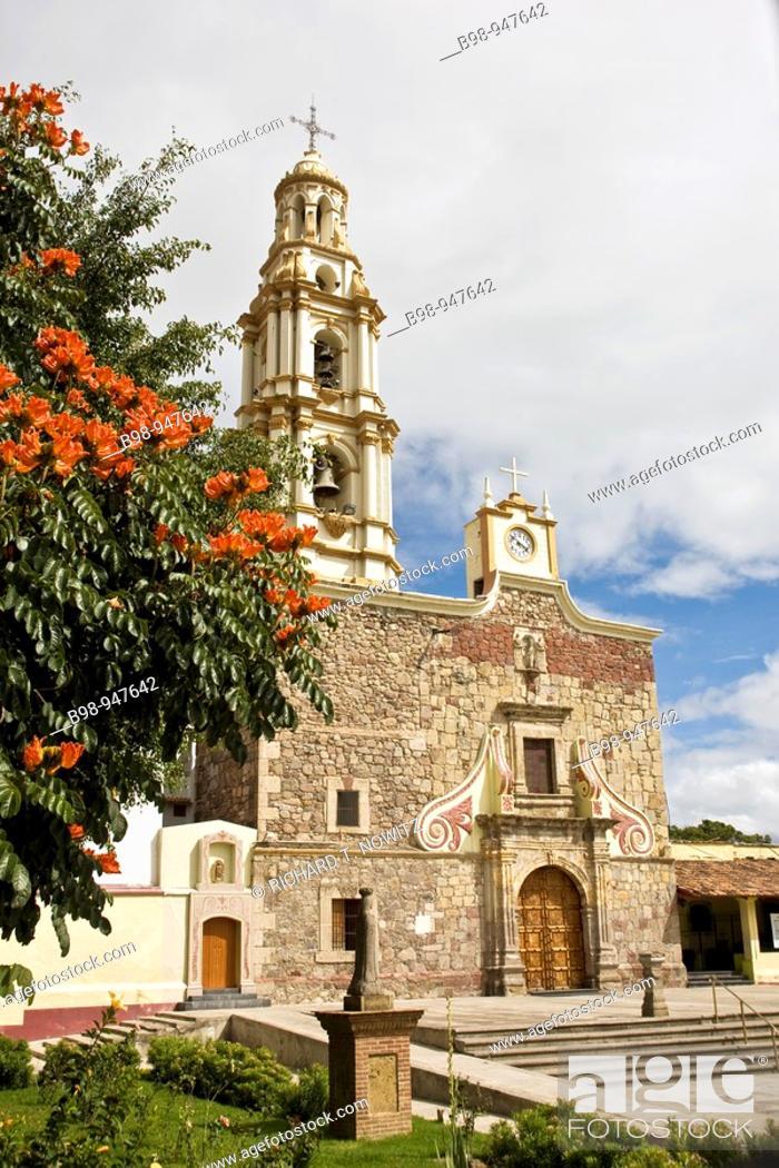 Stock Photo: Ajijic, Jalsico, Mexico  baroque San Andes parish church.