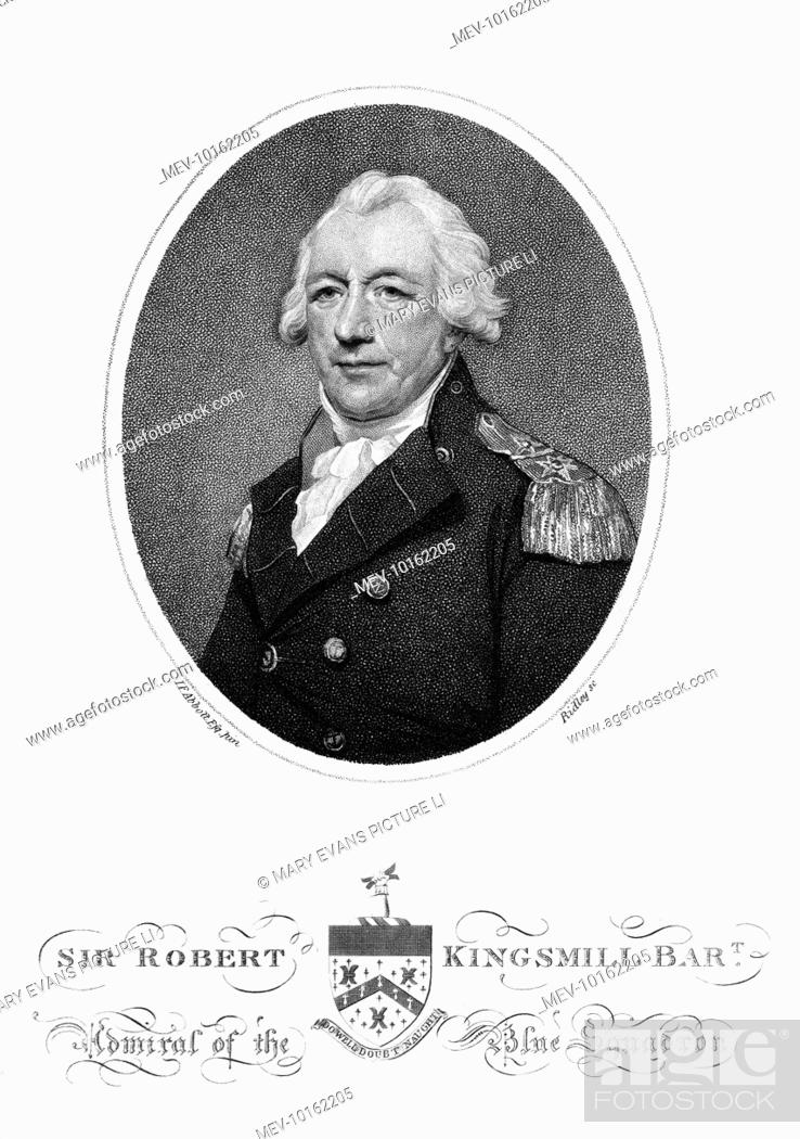 Stock Photo Sir Robert Brice Kingsmill Admiral Of The Blue Squadron Royal Navy