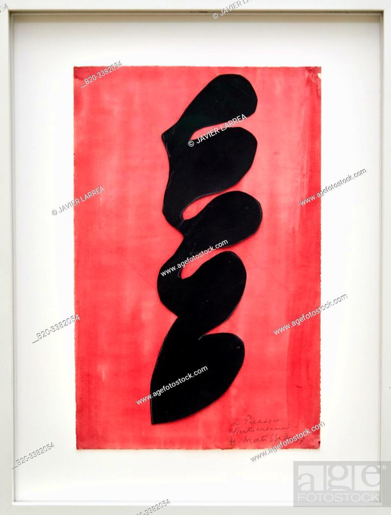 """Stock Photo: """"Papier découpé"""", 1947, Henri Matisse, Picasso Museum, Paris, France, Europe."""