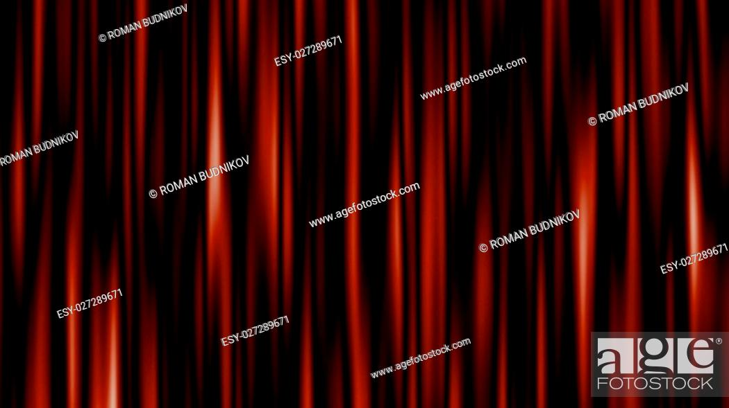 Stock Photo: Highly detailed 3d animation of curtain. 3D rendered.