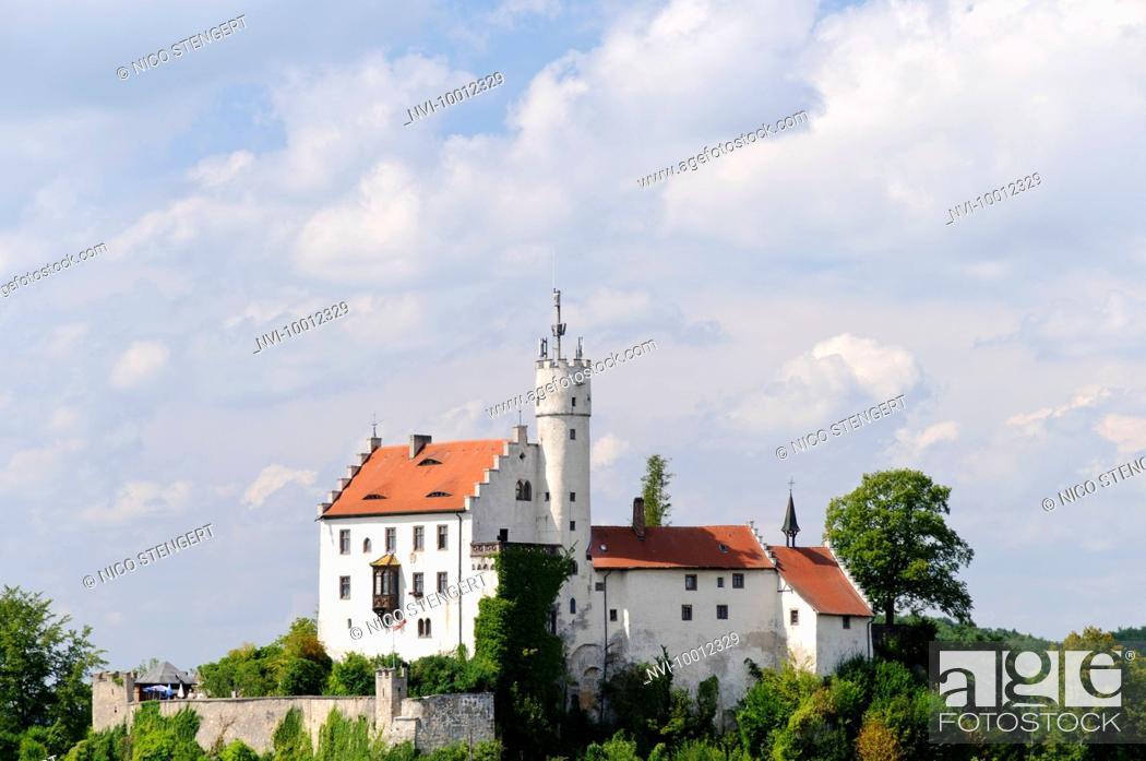 Stock Photo: Goessweinstein Castle, Franconian Switzerland, Franconia, Bavaria, Germany, Europe.