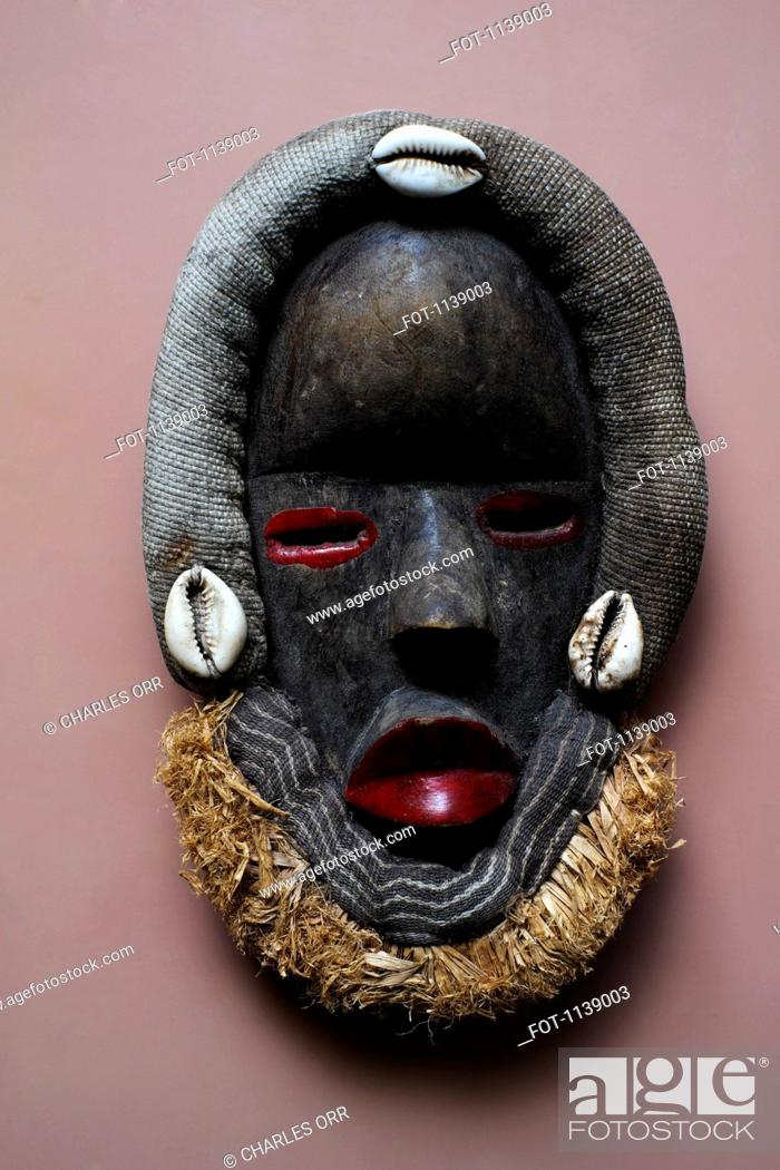 Stock Photo: An African style mask.