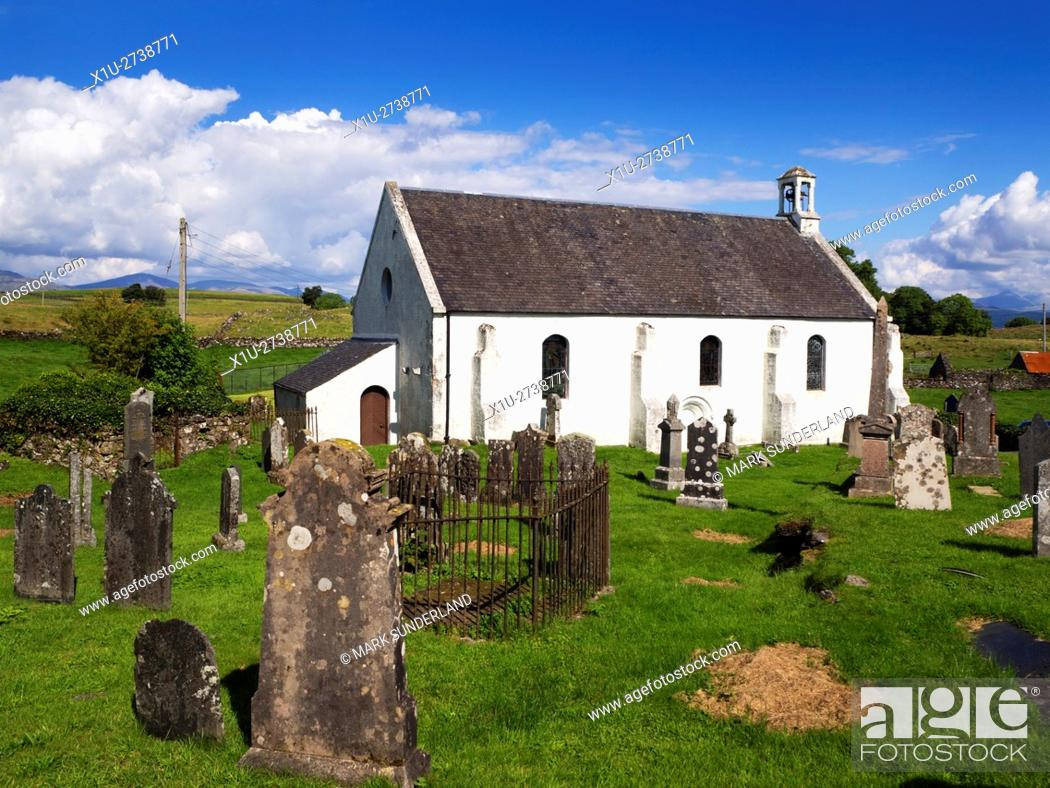 Stock Photo: Lismore Parish Church Isle of Lismore Argyll and Bute Scotland.