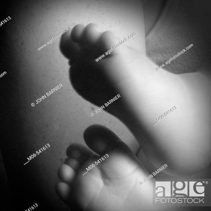 Stock Photo: Baby toes.
