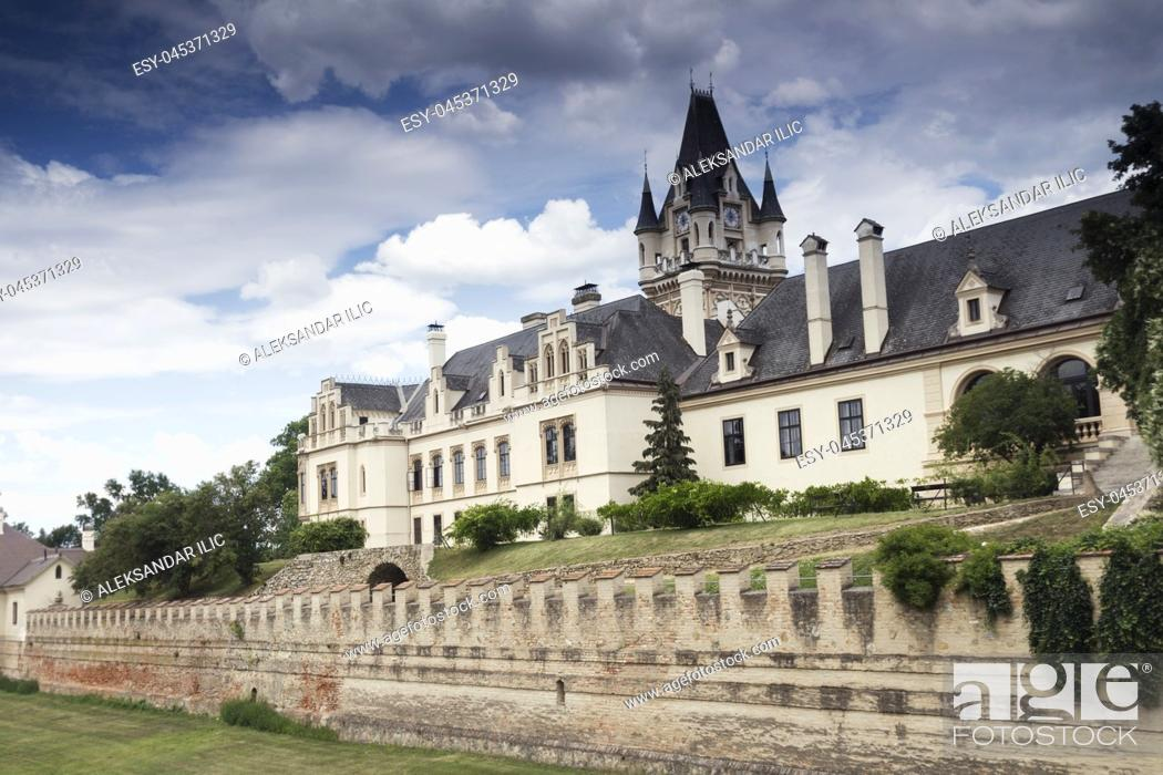 Stock Photo: Grafenegg Castle in the Krems-Land district of Lower Austria.