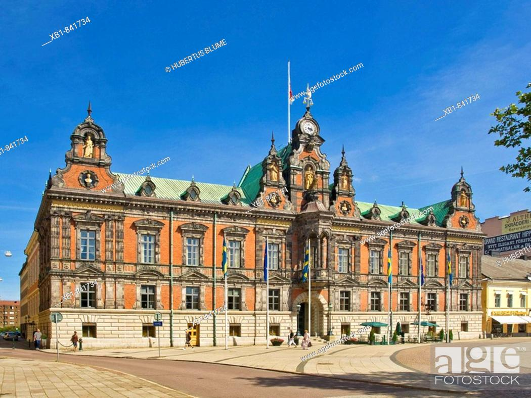 Stock Photo: Town Hall (1546), Malmö Municipality, Skane County, Sweden.