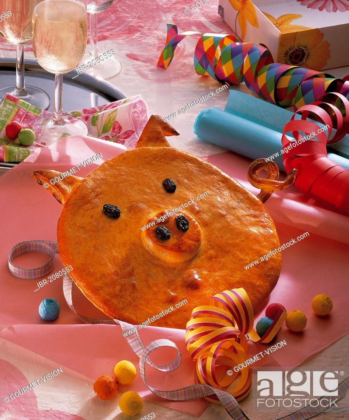 Pig As A Symbol Of Good Luck Pastry Germany Stock Photo Picture