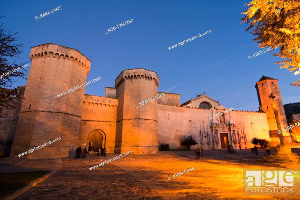 Stock Photo: Santa Maria de Poblet Cistercian monastery, Vimbodi i Poblet, Conca de Barbera, Tarragona province, Catalonia, Spain.