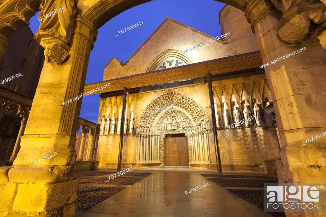Stock Photo: Church in Olite, Navarre, Spain.