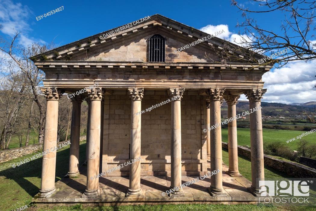 Stock Photo: Sain George old neoclassic church in Cantabria, Spain.