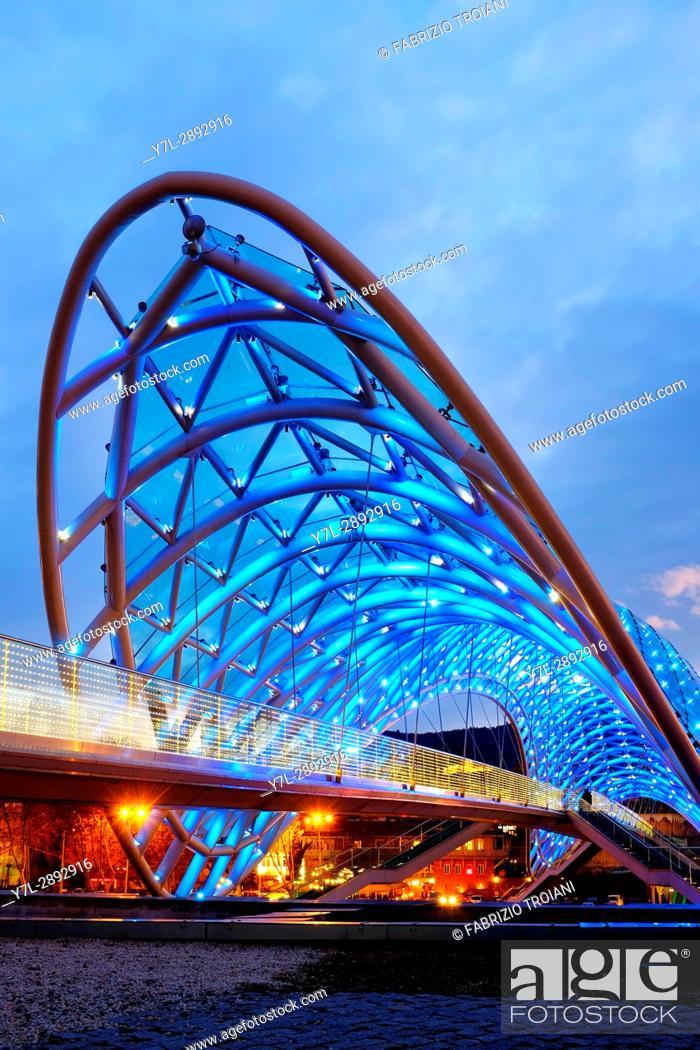 Stock Photo: Bridge of Peace, Tbilisi, Georgia.