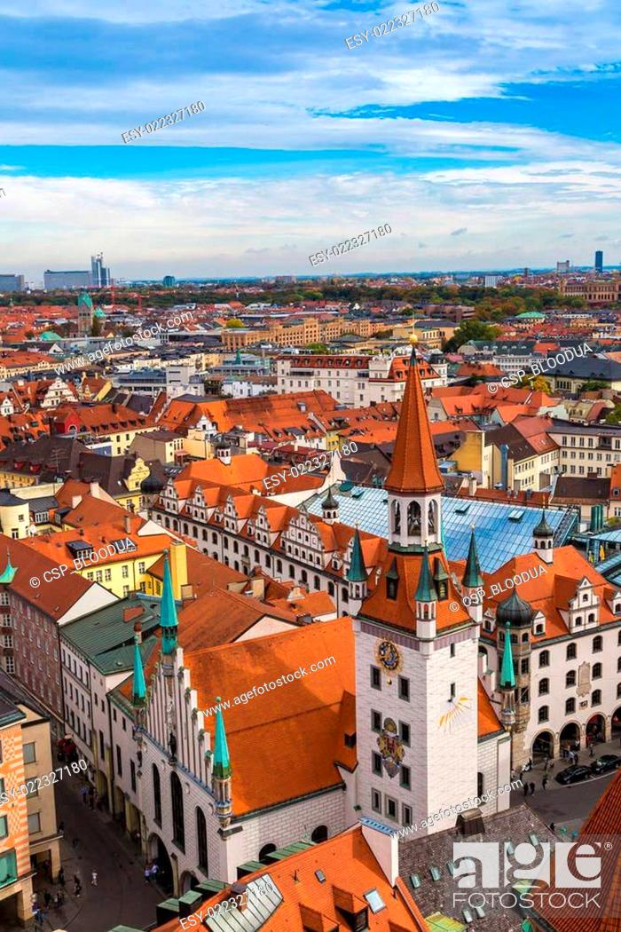Stock Photo: Aerial view of Munich.