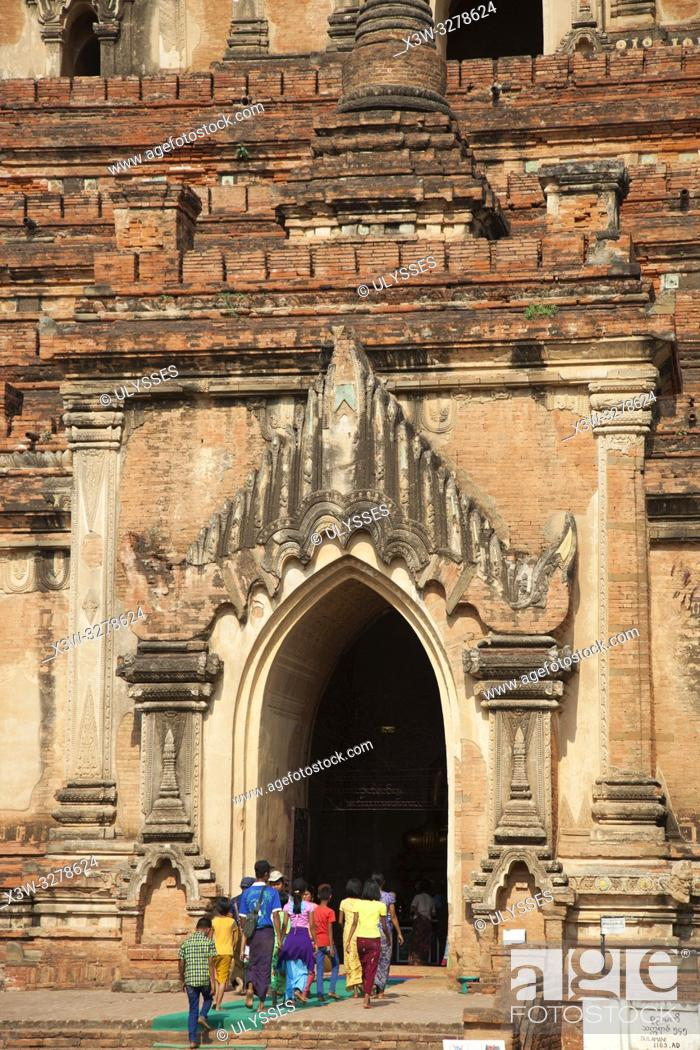 Photo de stock: Sulamani temple, Old Bagan village, Mandalay region, Myanmar, Asia.
