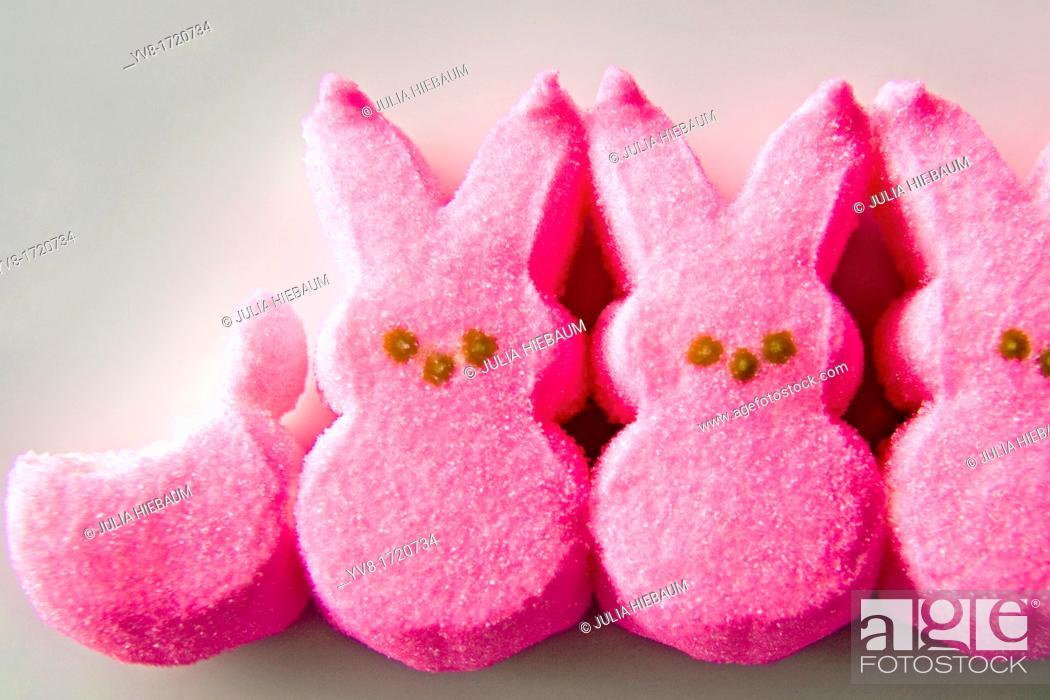 Stock Photo: Marshmallow bunnies.