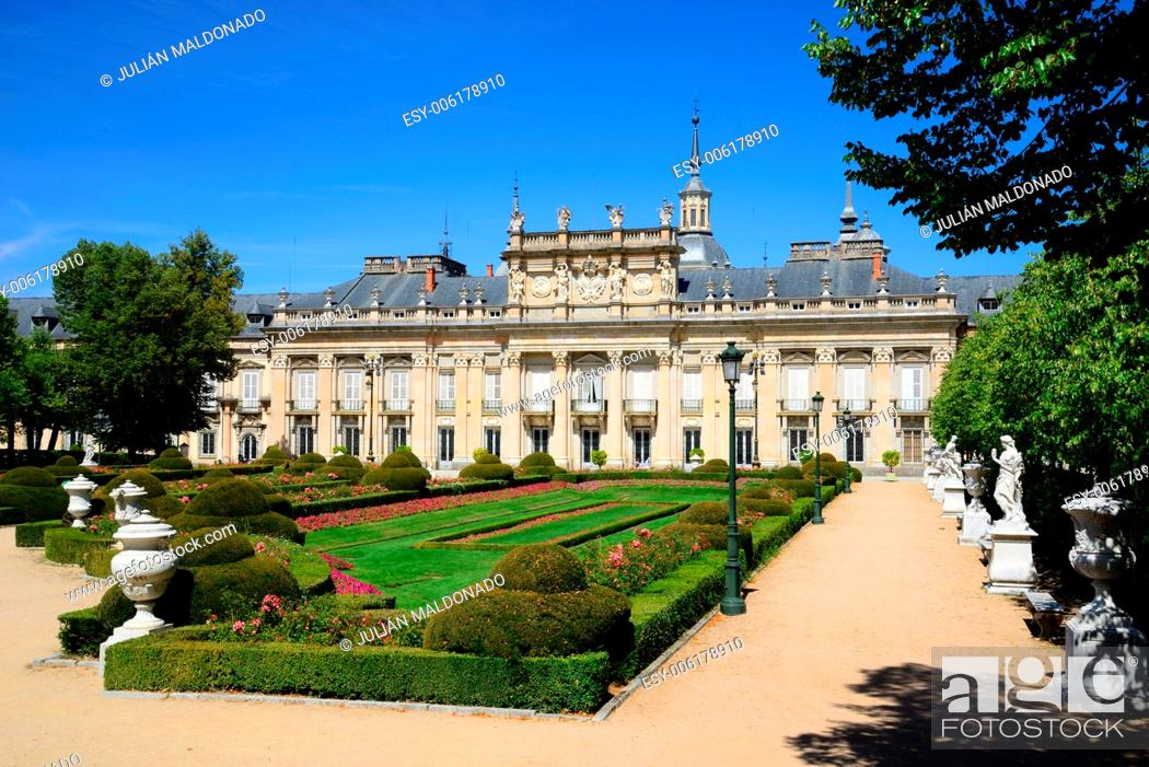 Stock Photo: Royal Palace of La Granja de San Ildefonso, Segovia, Castilla Leon, Spain.