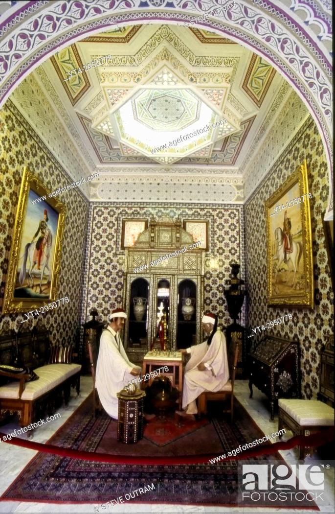 Stock Photo: Tunisia. North Africa. Inside the Dar Charait Musuem. Tozeur.