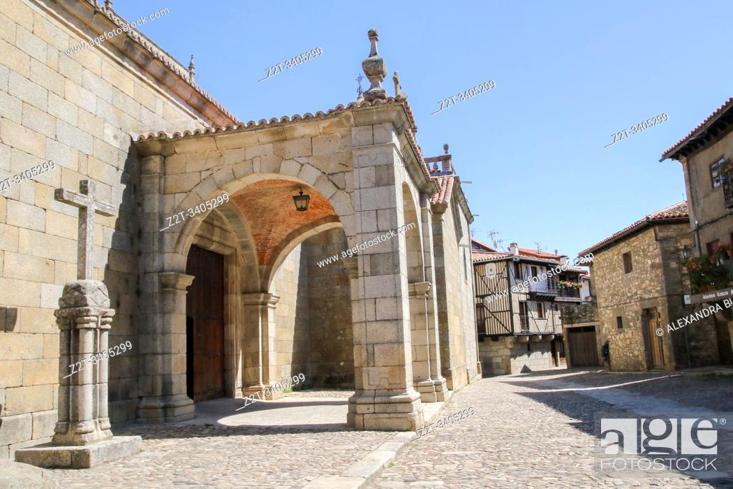 Stock Photo: Church of the Assumption, La Alberca, Salamanca Province, Spain.