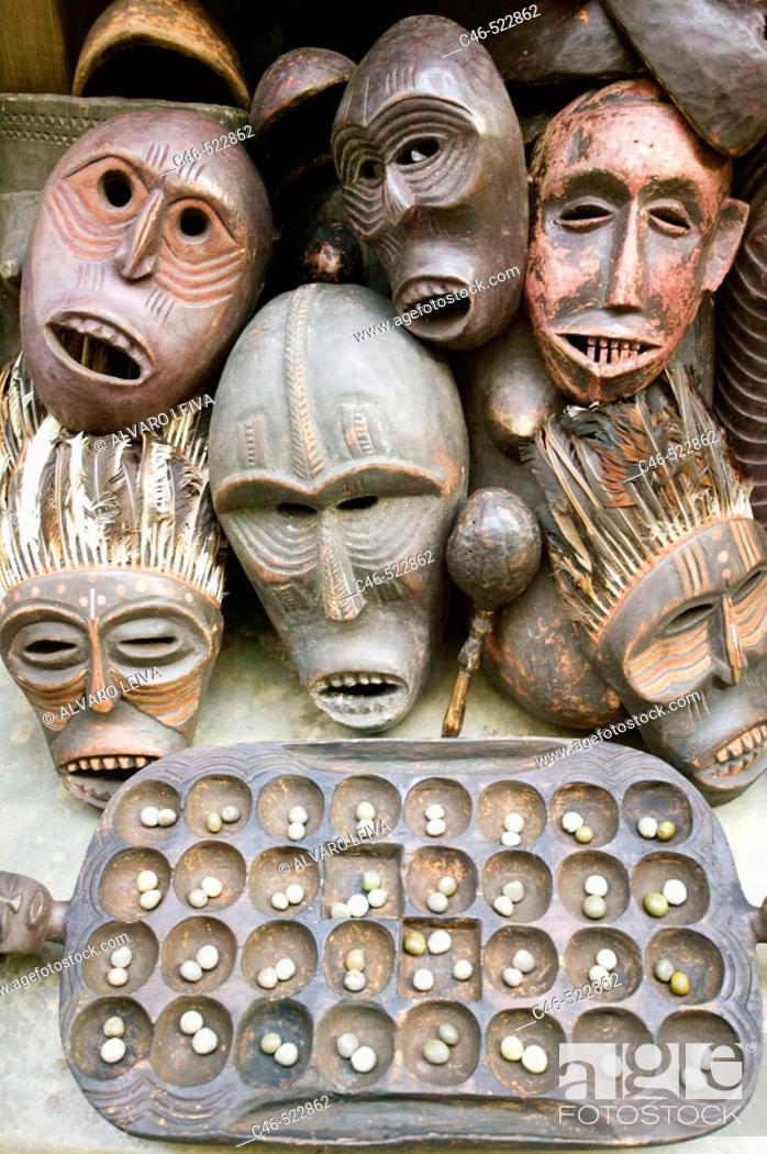 Stock Photo: Masai art, Stone town, Zanzibar Island, Tanzania.