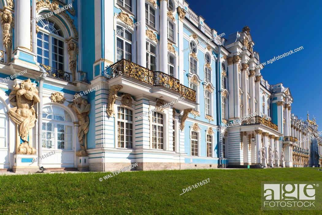 Stock Photo: Russia, Saint Petersburg, Pushkin-Tsarskoye Selo, Catherine Palace.