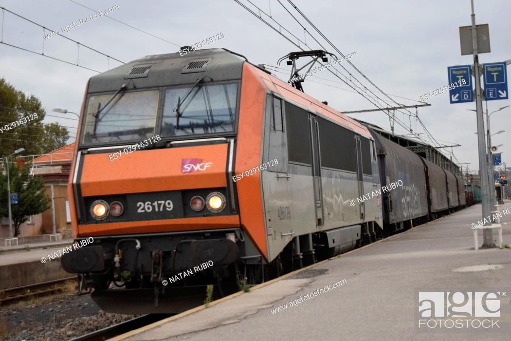 Stock Photo: Goods train.