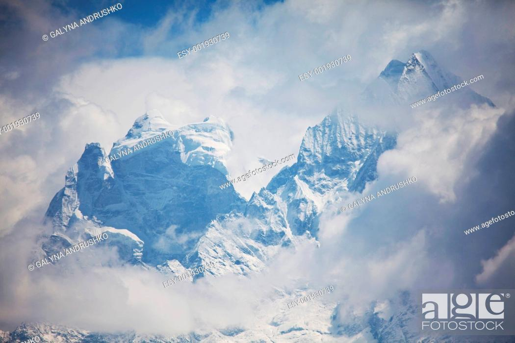 Stock Photo: High mountains.