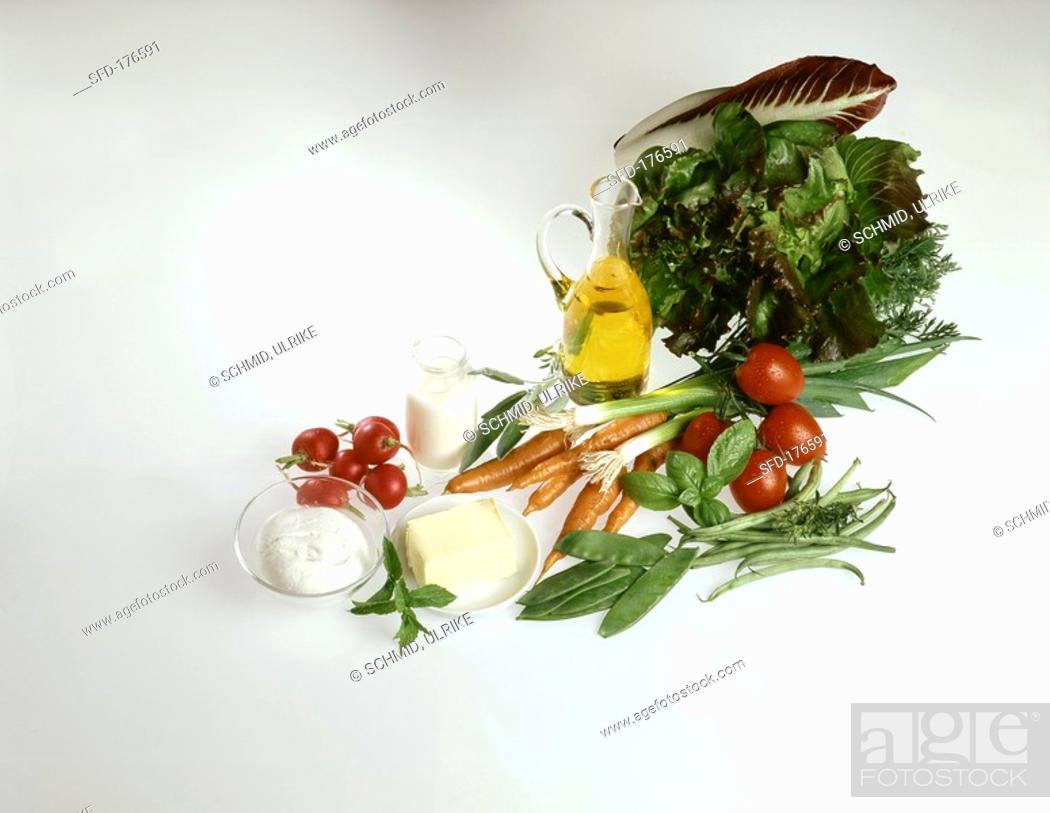 Stock Photo: Neutral foods food combining Not available for publisher Weltbild.