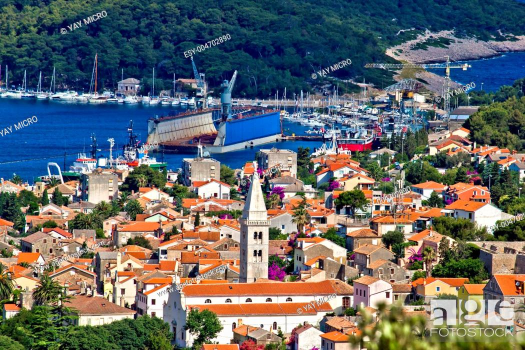 Stock Photo: Panoramic view - Town of Mali Losinj.