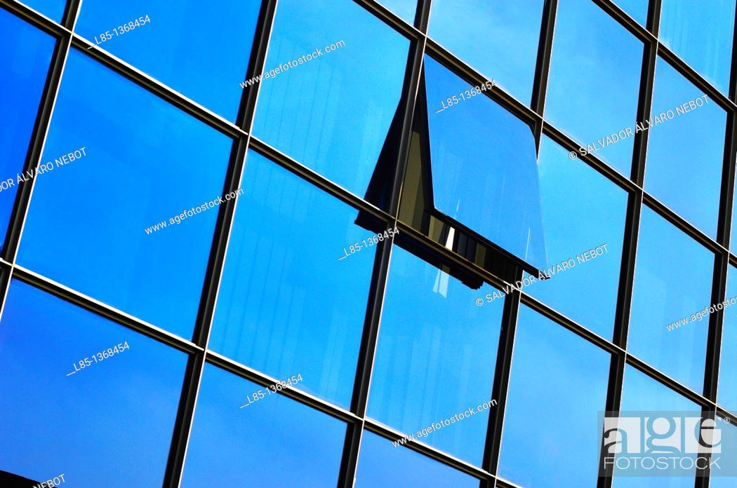 Stock Photo: Glass building.