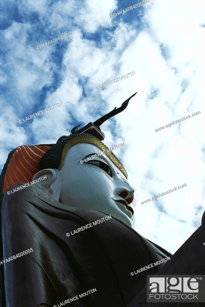 Stock Photo: Seated Buddha, Amarapura, Myanmar Burma.