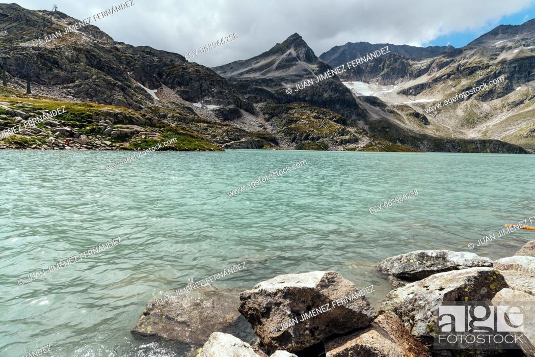 Stock Photo: Scenic view of Weissee lake in Austrian Alps.