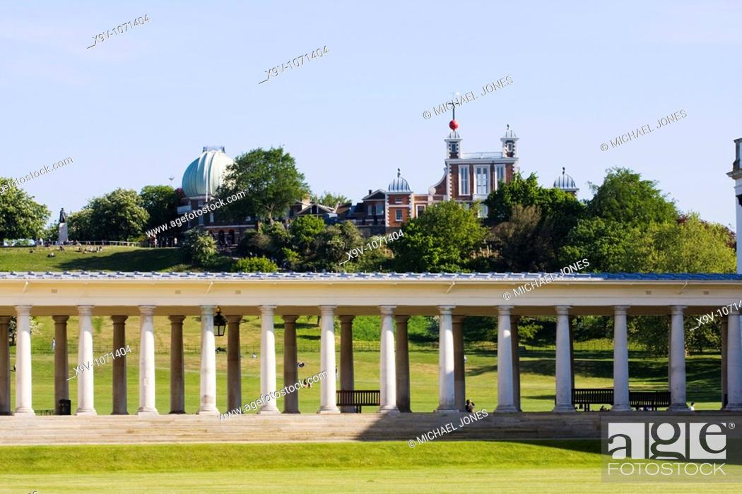 Imagen: Greenwich Palace and the Royal Observatory, Greenwich, London, England.