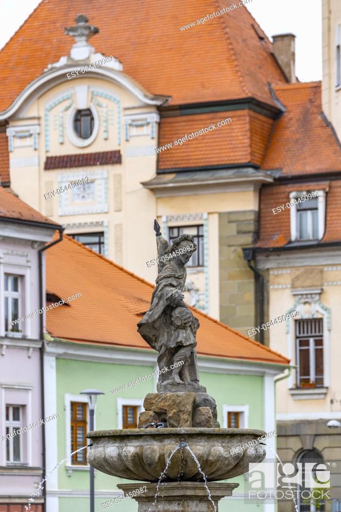 Stock Photo: Old town Bilina, Usti nad Labem Region, Czech Republic.