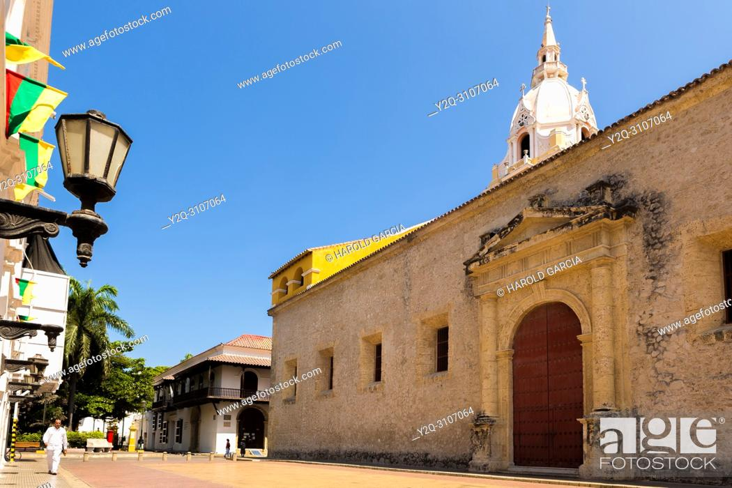 Imagen: Cathedral Basilica of St. Catherine of Alexandria in the ancient walled city of Cartagena de Indias. UNESCO's historical heritage of humanity.