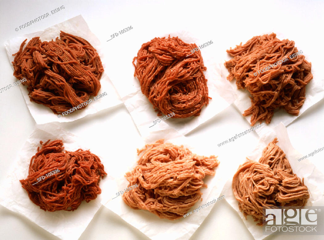 Stock Photo: Assorted Kinds of Ground Meat (1).