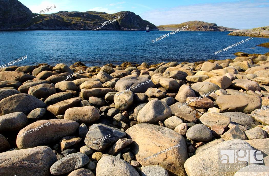 Stock Photo: Coastal landscape, Barents Sea, Russia, Arctic.