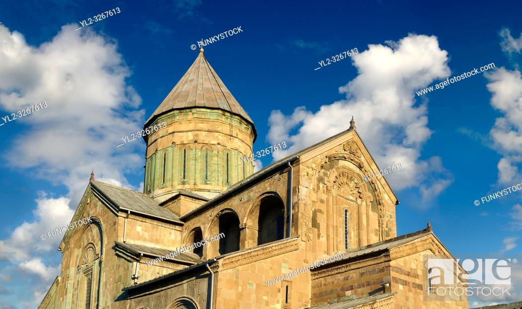 Stock Photo: Pictures & images of the Eastern Orthodox Georgian Svetitskhoveli Cathedral (Cathedral of the Living Pillar) , Mtskheta, Georgia (country).