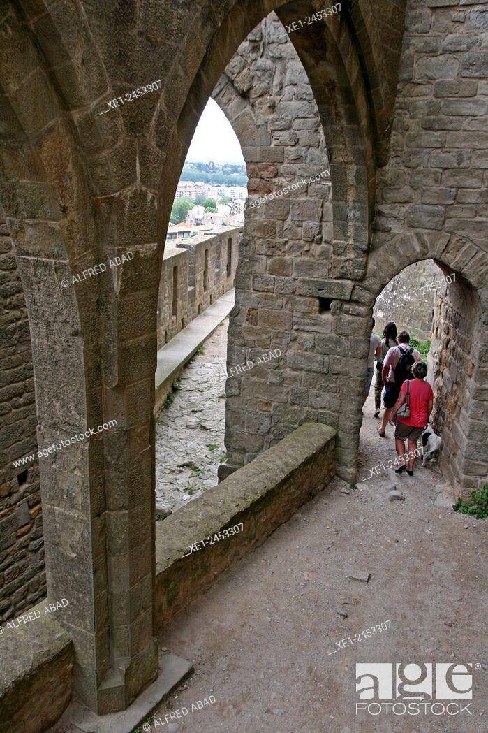 Stock Photo: Cite de Carcassonne, Pays Cathare, France.