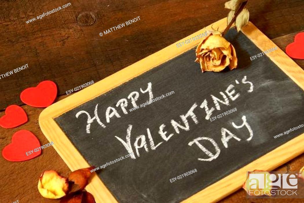 Stock Photo: Valentines Message.
