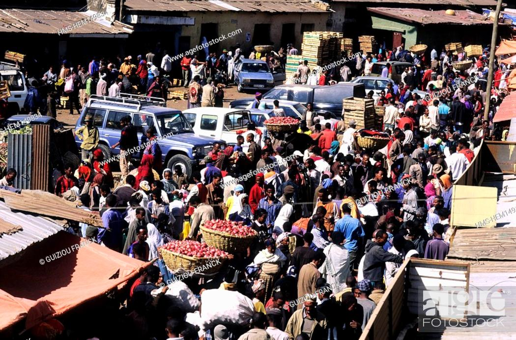 Ethiopia Addis Ababa The Mercato The Biggest Open Air Market In - Mercato car show